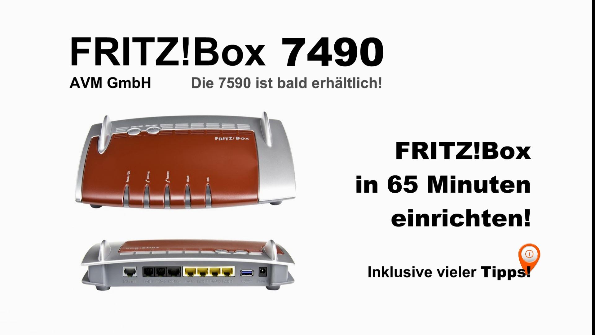 FRITZ!Box 7490 einrichten, inkl. Telekom DSL Anschluss konfigurieren