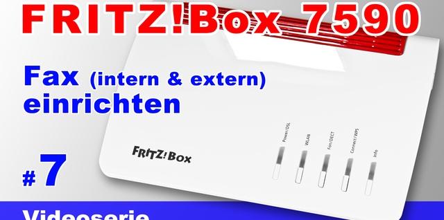 FRITZ!Box 7590 - Fax einrichten