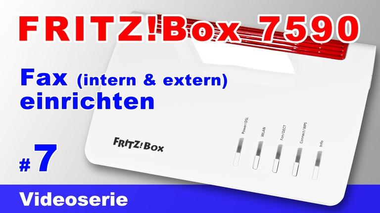 FRITZ!Box 7590 - Fax einrichten - Teil 7