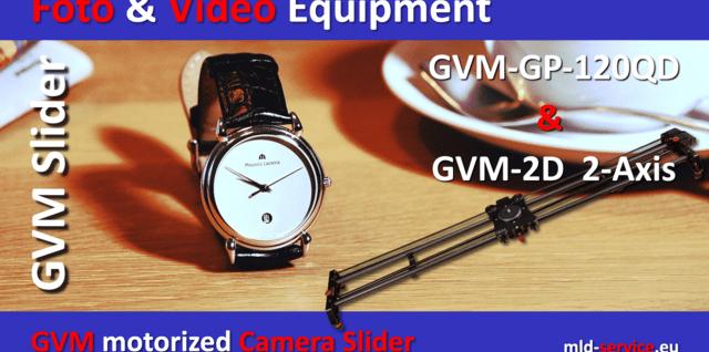 Kamera Slider GVM GP-120QD, GVM GP-80QD und GVM 2D