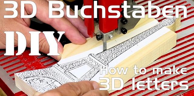 Buchstaben und Formen aus Holz selber herstellen