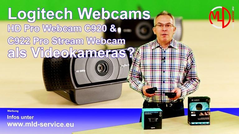 Logitech C920 und C922 Full HD Webcam als Videokamera