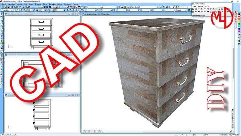 Schubladenschrank mit vier Schubladen selber bauen (Teil 5 von 5)