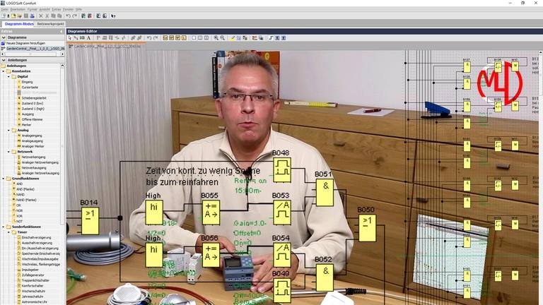Siemens LOGO! 8 - Programmieren einer komplexen Lichtsteuerung - Anwendungsbeispiel