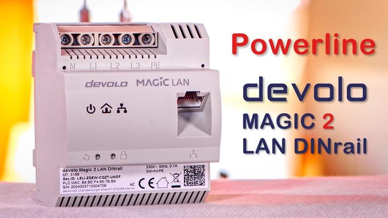 devolo Magic 2 LAN DINrail einrichten und schlechte Powerline Verbindungen optimieren.