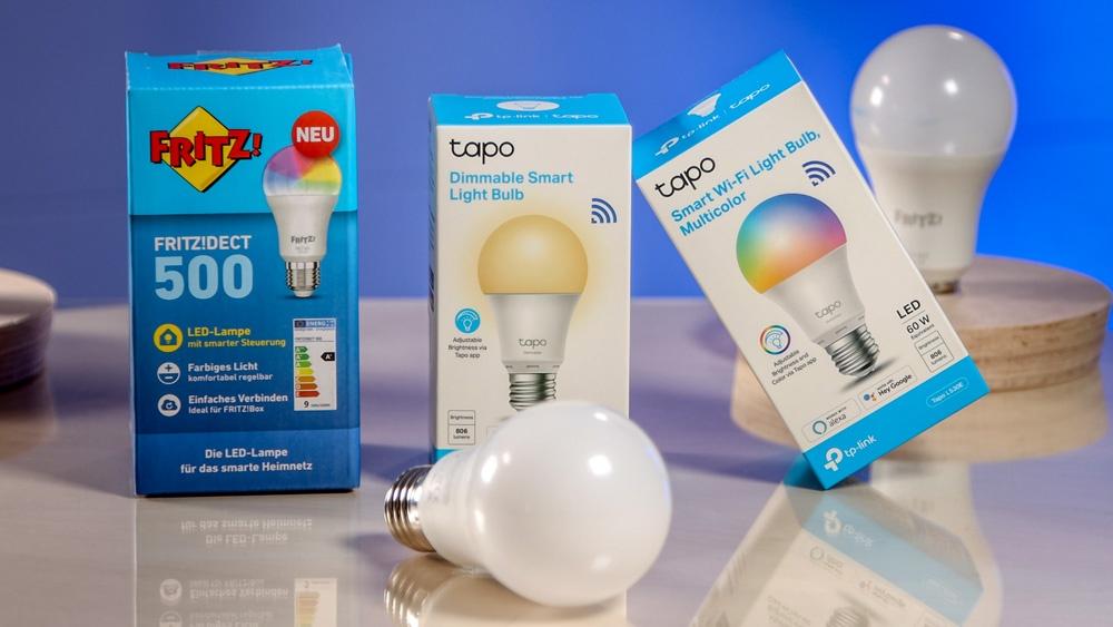 Smarte LED Lampen von AVM und TP-Link