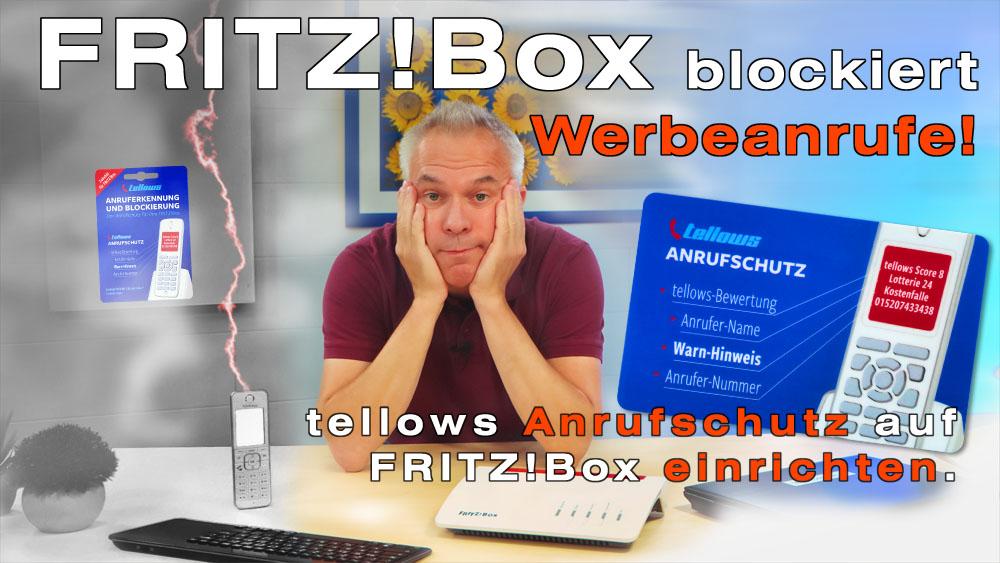 Rufnummern mit der FRITZ!Box sperren und unerwünschte Anrufe mit dem tellows Anrufschutz blockieren.