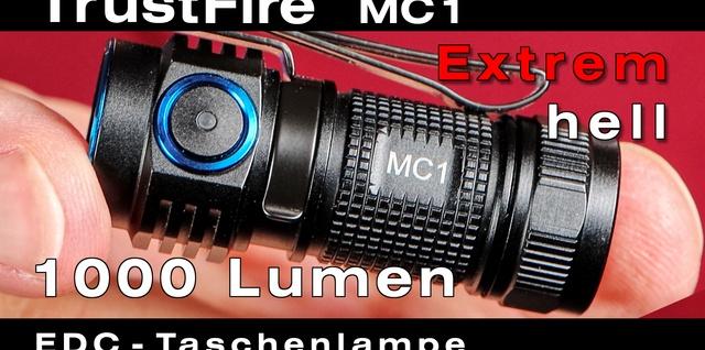 TrustFire MC1 extrem kleine Taschenlampe mit extrem heller Cree LED für Hobby, Beruf und Reise