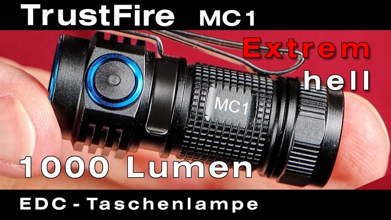 TrustFire MC1 Taschenlampe mit extrem heller Cree LED für Hobby, Beruf und die Reise