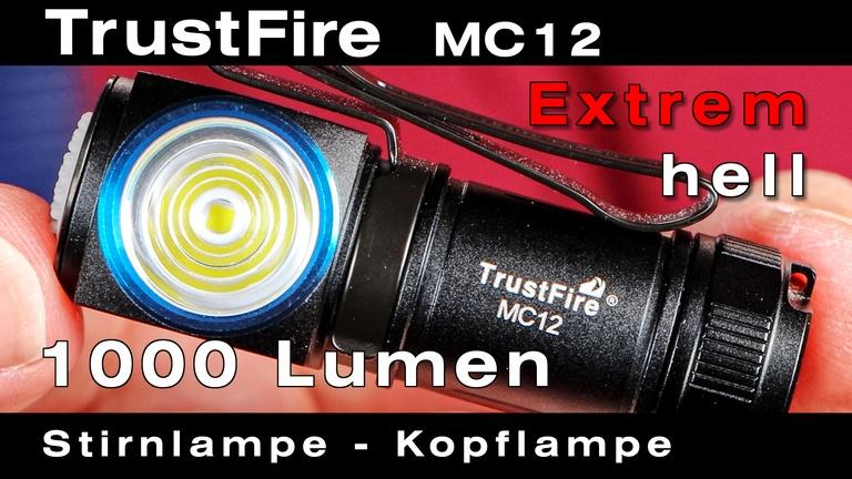 TrustFire MC12 Stirnlampe mit Cree LED. Extrem helle & kleine Kopflampe für Hobby, Beruf & Reise