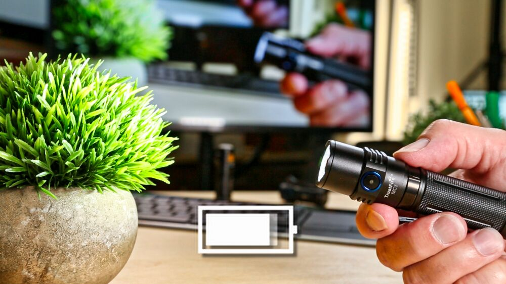 TrustFire MC3 LED Taschenlampe - Konstantelektronik