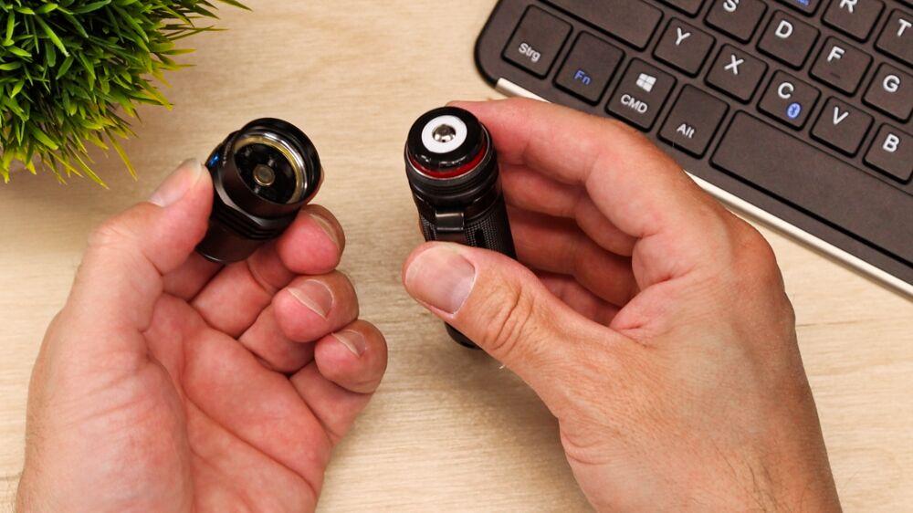 TrustFire MC3 LED Taschenlampe - Verpolungsschutz