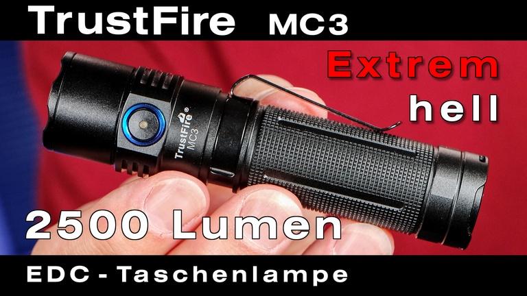 TrustFire MC3 Taschenlampe mit extrem heller Cree LED für Hobby, Beruf und die Reise