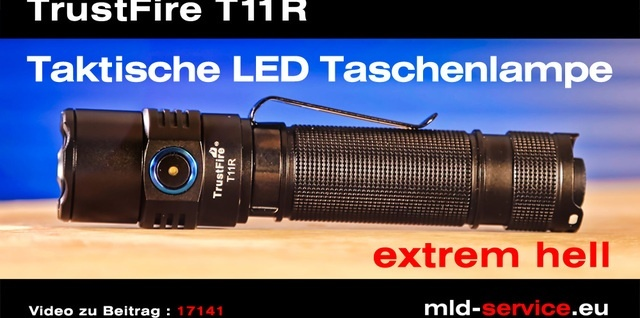 TrustFire T11R taktische LED Taschenlampe - YouTube