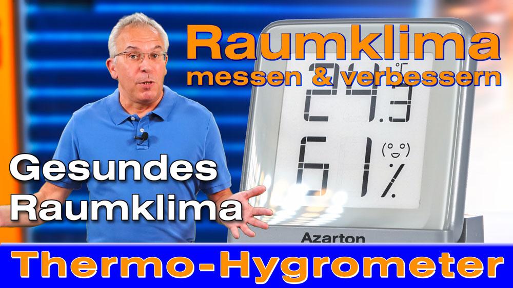 Raumklima messen und verbessern – Thermometer Hygrometer Azarton MHO-C401